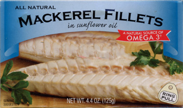 Mackerel Fillets Label