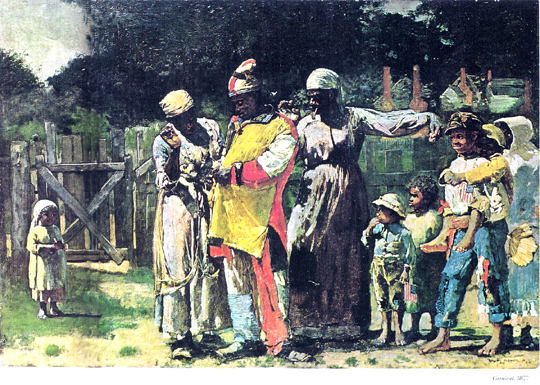 Former Slaves Preparing for a Carnival