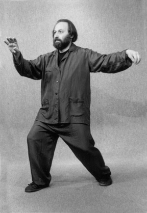 "Robert Chuckrow in ""Single Whip"" Posture"